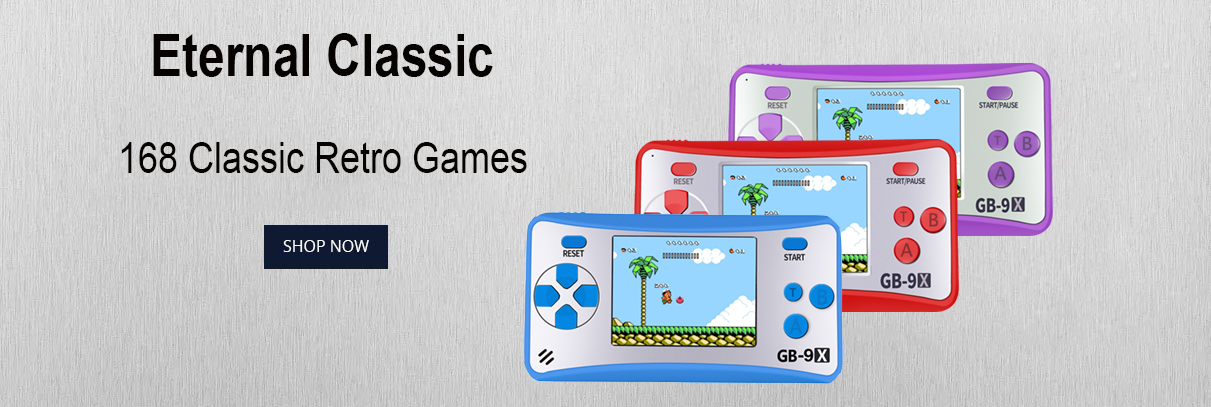GB-9X retro hanhdeld games console for kids with mario games